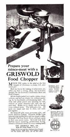 Griswold Erie Meat Grinder Orig ad