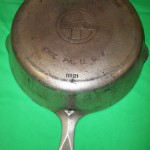 No90 Griswold Deep Dble Skillets base bottom view