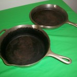 No90 Griswold Deep Dble Skillets top