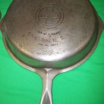 No90 Griswold Deep Dble Skillets top outside view
