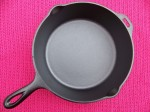 No8 Lodge Deep Double Skillet with Lid Unmarked bottom inside