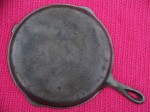 No8 Lodge Deep Double Skillet with Lid Unmarked top outside