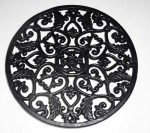 Trivet 11in Diameter 3 Footed from the side