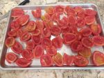 Roma Tomatoes ready for the oven